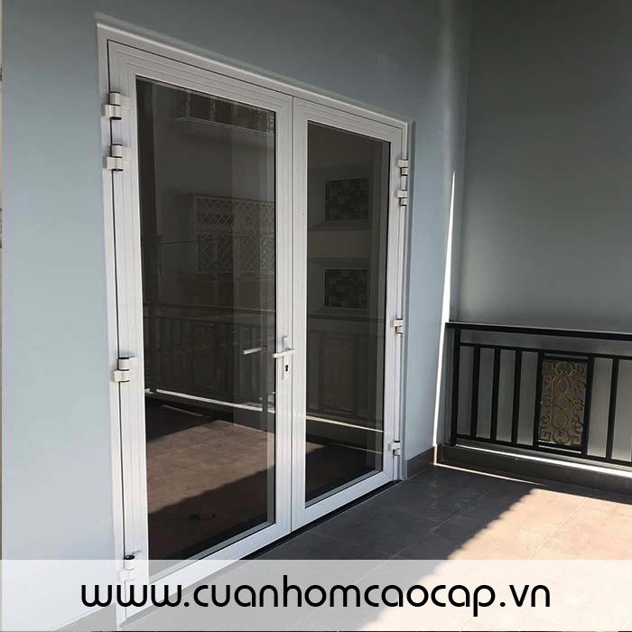 Cửa nhôm XingFa nhập khẩu GuangDong màu trắng sứ + kính trắng 8mm CL +phụ kiện KinLong chính hãng